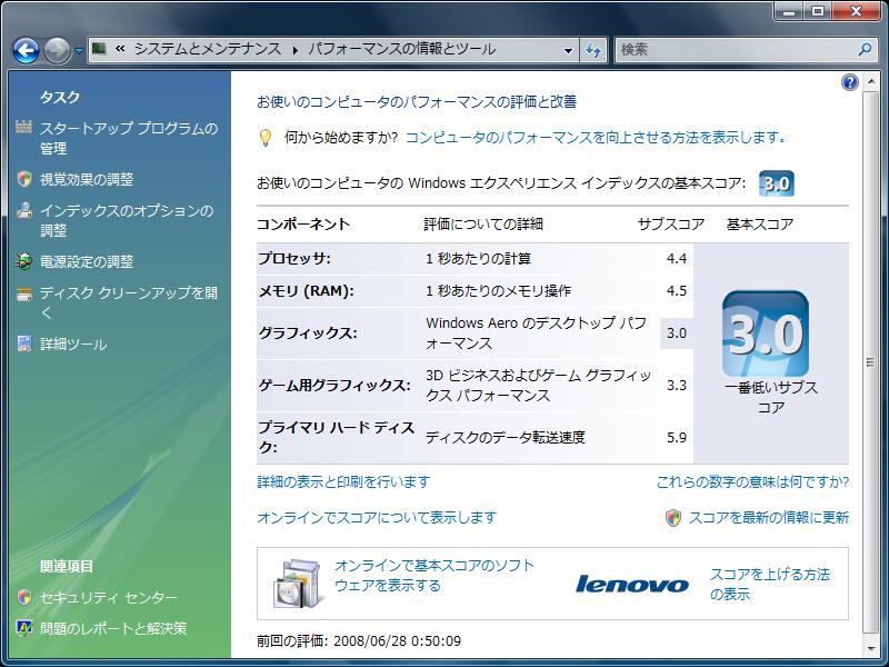 X300パフォーマンス(メモリ1GB)